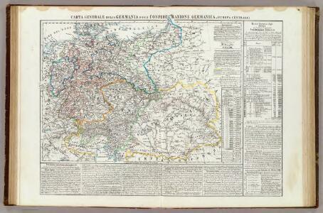 Carta generale della Germania ossia Confederazione Germanica.