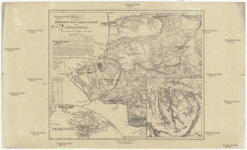 Karte vom südwestlichen Theile der Krim mit Sevastopol