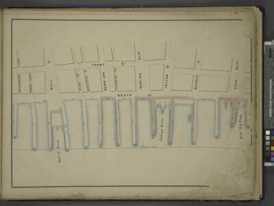 [Map bounded by Front St, Peck Slip, Peck Slip Ferry, Pier - Line 13-26; Including Gouverneurs Lane, Jones Lane, Wall St, Wall St      Ferry, Pine St, Depeyster St, Maiden Lane, Fletcher St, Burling Slip, Fulton St, Fulton Ferry, Beekman St]