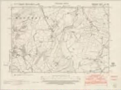 Radnorshire XI.NW - OS Six-Inch Map