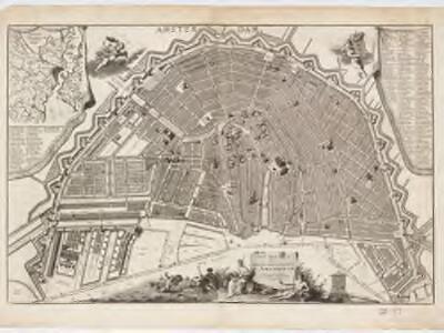 Plan tres exact de la fameuse ville marchande d'Amsterdam