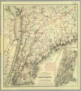 Colton's driving & wheeling map of the country twenty five miles north of the city of New York.