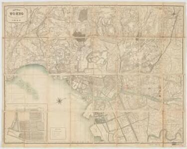 New map of Tokio : divided into ninth ri sections for measuring distances