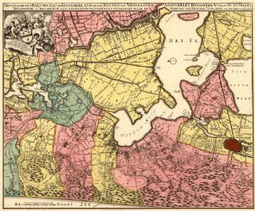 Nieuwe Kaart van t'Baljuwschap van Kennemerland