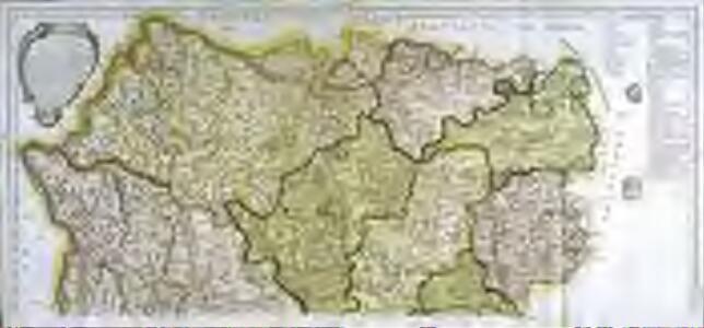 Mapa geografico de la provincia de Salamanca, 1