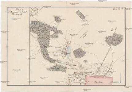 Plan der Situation des Dorfes Bornstedt