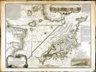 Carte de la partie de l'ocean vers l'equateur entre les cotes d'Afrique et d'Amerique où la situation des isles, bancs, et vigies