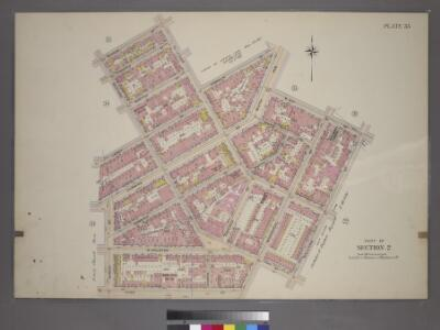 Plate 33, Part of Section 2: [Bounded by Barrow Street, Bleecker Street, W. Houston Street, Macdougal Street, King Street, Varick Street, Leroy Street and Bedford Street.]