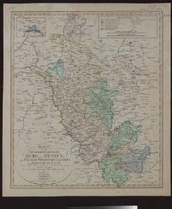 Charte von den Grosherzogthümern Berg und Hessen, den Fürstlich-Primatischen Laendern; dem Herzogthume Nassau und den übrigen darinne begränzten, zum Theil noch uneingetheilten Laendern