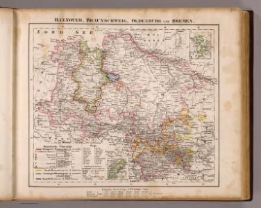 Hannover, Braunschweig, Oldenburg, Bremen.