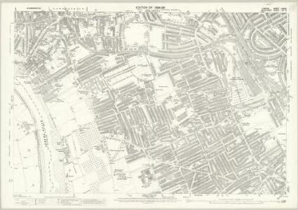 London (Edition of 1894-96) LXXXVI (includes: Fulham; Hammersmith) - 25 Inch Map