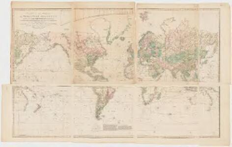Chart of the world on Mercators projection : exhibiting all the new discoveries to the present time, with the tracks of the most distinguished navigators since the year 1700 carefully collected from the best charts, maps, voyages, &c. extant and regulated from the accurate astronomical observations made in three voyages performed under the command of Captn. James Cook in the years 1768, 69, 70, 71, 72, 73, 74, 75, 76, 77, 78, 79 & 80