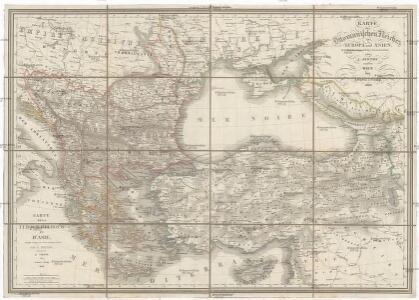 Karte des Ottomanischen Reiches in Europa und Asien