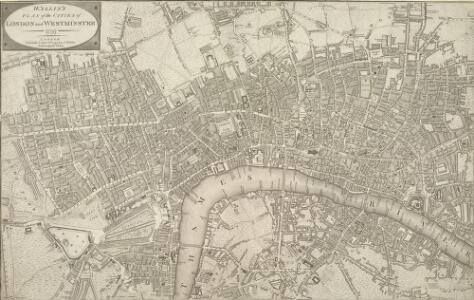WALLIS'S PLAN of the CITIES of LONDON and WESTMINSTER 1797