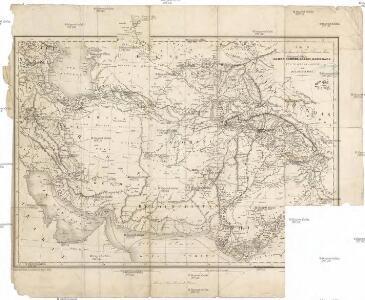 Carte pour l'intelligence des voyages d'Alexandre Burnes, a Lahor, Caboul, Balkh, Boukhara et a travers la Perse en 1831, 1832 et 1833