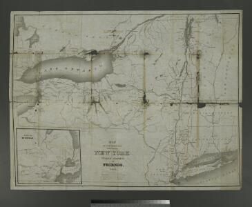Map of the meetings constituting New York Yearly Meeting of Friends.