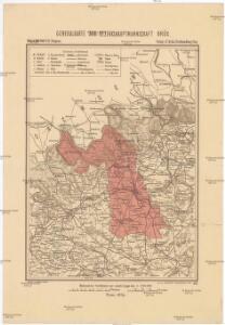 Generalkarte der Bezirkshauptmannschaft Brüx