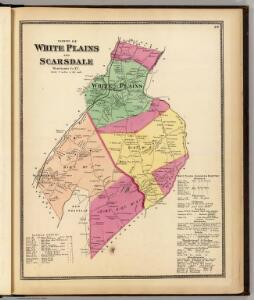White Plains, Scarsdale towns.