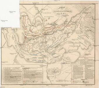 Plan de la bataille de Waterloo Mont St. Jean 18 juin 1815