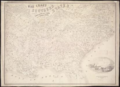 War chart of the Southern States showing the towns, rivers, rail-roads and common roads