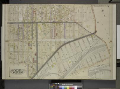 Queens, Vol. 2, Double Page No. 6; Part of Long       Island City Ward One (Part of Old Ward 2 & 4) Sub Plan; [Map bounded by Harold   Ave., Middleburg Ave.; Including Bragaw St., Lowery St., Van Buren St., Van Pelt St.]; Part of Long Island City Ward