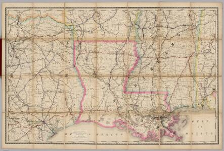 (Louisiana) Railroad Map of the United States.