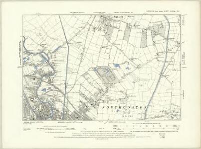 Yorkshire CCXXI.NE - OS Six-Inch Map