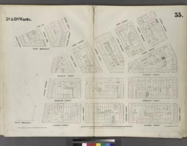 Plate 35: Map bounded by Spring Street, Laurens Street, Canal Street, West Broadway, Beach Street, St. John's Lane, Laight Street, Canal Street, Varick Street.