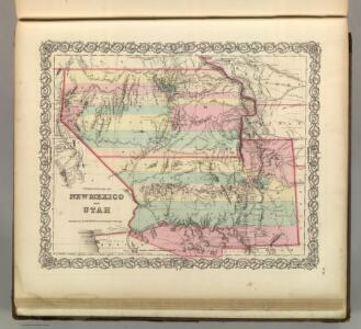 Territories of New Mexico and Utah (and Nevada and Arizona).