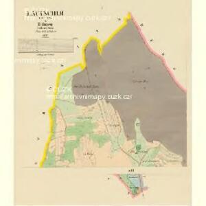 Lautschim (Laučim) - c4238-1-001 - Kaiserpflichtexemplar der Landkarten des stabilen Katasters