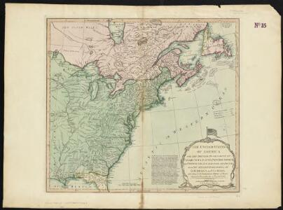 The United States of America with the British possessions of Canada, Nova Scotia, New Brunswick and Newfoundland divided with the French, also the Spanish territories of Louisiana and Florida according to the preliminary articles of peace signed at Versailles the 20th of Jany. 1783