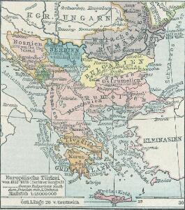 Europäische Türkei von 1812-1878 (Berliner Kongreß)
