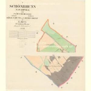 Schönbrumm (Studinka) - m0529-1-001 - Kaiserpflichtexemplar der Landkarten des stabilen Katasters