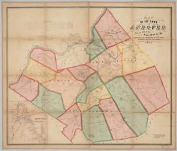 Map of the town of Andover, Essex County, Massachusetts