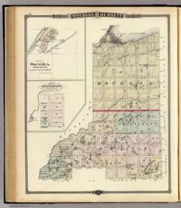 Map of Douglas and Burnett counties, Osceola and Grantsburg, Wisconsin.