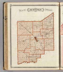 Map of Jennings County.