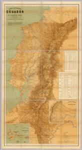 Carta Geografica del Ecuador.
