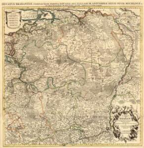 Carte du Brabant Dresée sur plusiers Cartes particulieres Manuscrites ou imprimées levées sur les lieux. Rectifiées par quelques Observations et autres Memoires /