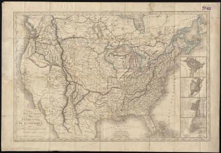 Carte générale des États-Unis de l'Amérique avec les plans des principales villes