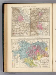 Wien, Prag, Buda-Pest, Religionskarte Oesterreich-Ungarn.