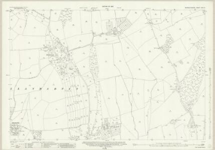 Monmouthshire XXIX.12 (includes: Cemais; Llanfarthin; Magor; Pen Hw) - 25 Inch Map