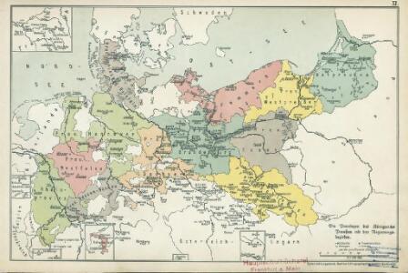 XI. Die Provinzen des Königreichs Preußen mit den Regierungsbezirken