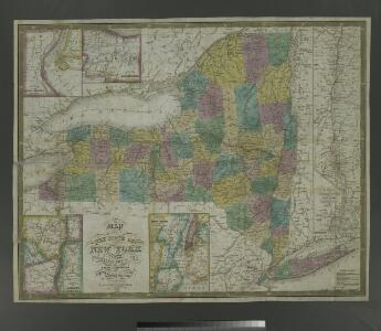 Map of the state of New York: compiled from the latest authorities.