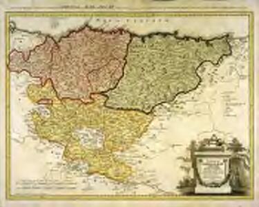 Provinciarum Guipuscoæ, Alavæ et Biscayæ tabula geographica