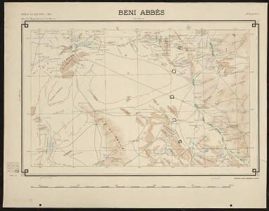 Carte générale du Maroc à l'échelle de 1 : 500 000 e. Beni Abbès