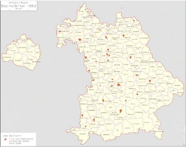 Königreich Bayern Bezirksämter 1862