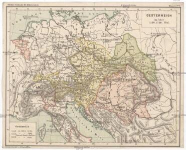 Oesterreich im Jahre 1564, 1720, 1795.