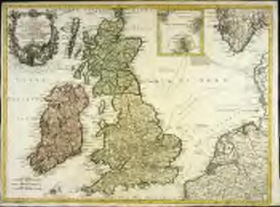 Carte des isles Britanniques contenant les royaumes d'Angleterre, d'Ecosse, d'Irlande et isles dépendantes