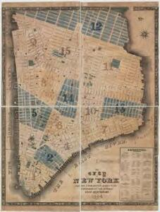 The city of New York drawn from actual surveys as furnished by the several city surveyors
