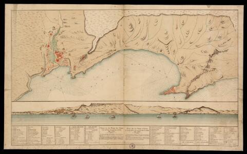 Plano de la Plaza de Oran y sus castillos, con la de Mazalquivir